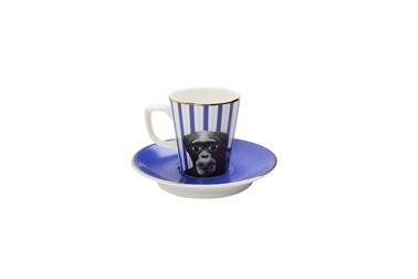 Porland Wild Life Monkey Tabaklı Kahve Fincanı 75Cc Renkli